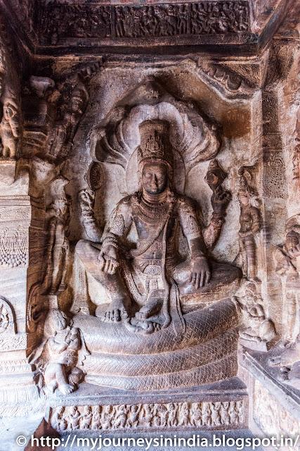 Badami Caves Lord Vishnu Avatar