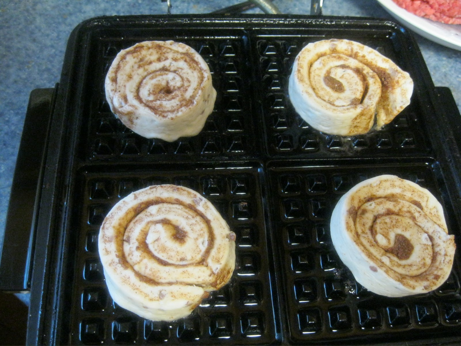 The Frugal Pantry: 5 Minute Cinnamon Roll Waffles