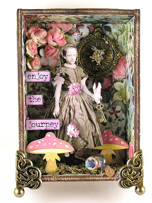 Graphic 45 Bloom Tim Holtz Baseboard Dolls Sizzix Funky Foliage Ranger Distress Oxides Prima Marketing Elisian Clockworks For the Funkie Junkie Boutique