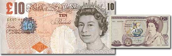 Dinheiro do mundo - Reino Unido - Libra esterlina