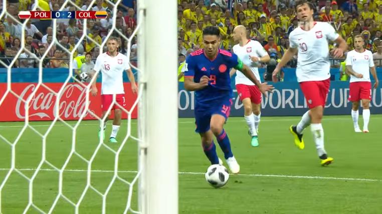 Falcao en el segundo tanto que tranquilizó a los cafetaleros / CAPTURA PANTALLA FIFA TV