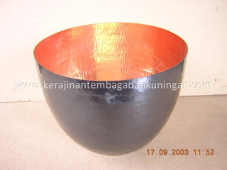 Kerajinan Tembaga Bowl / Mangkuk Tembaga.