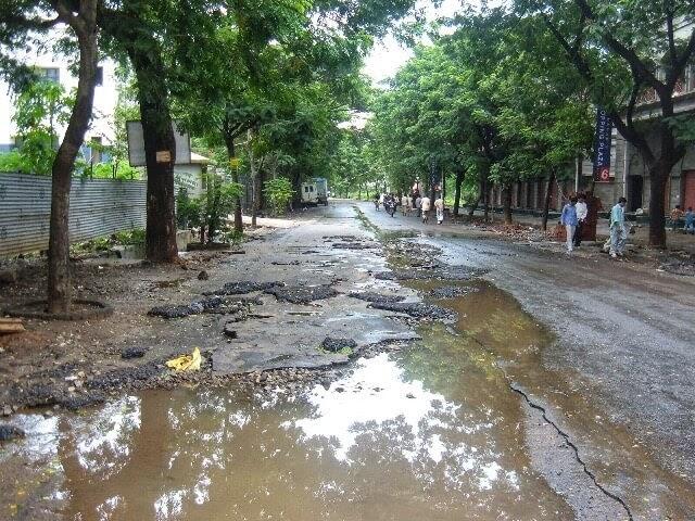 Street in Powai leading to Oritel