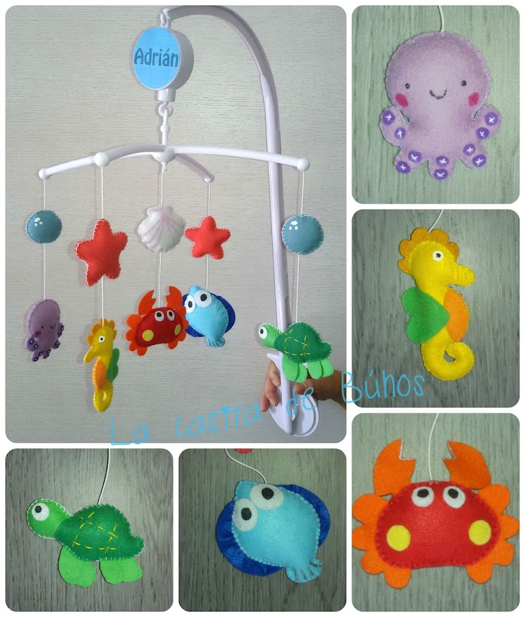 Móvil cuna peces - Baby Sea crib mobile