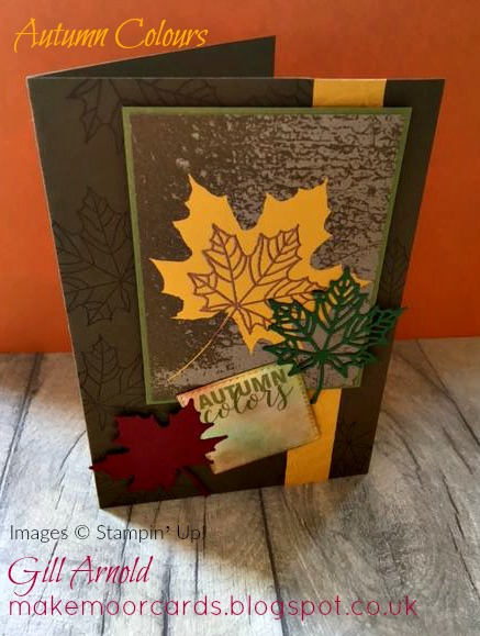 I Enjoyed Using Versa Mark To Stamp The Leaf Onto The Card Around The  Edges, Then Embossing The Crushed Curry Strip Using The Layered Leaves  Folder To Add A ...