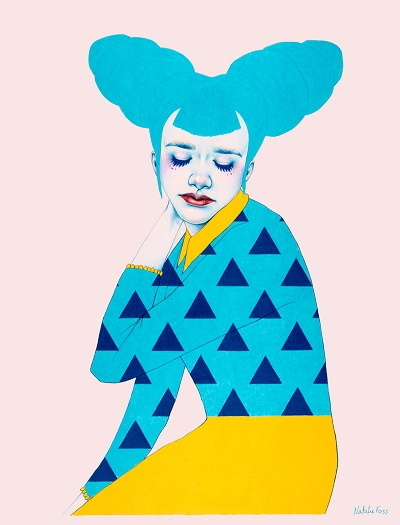 ilustración por Natalie Foss | creative emotional illustration art drawings, cool stuff, pictures, deep feelings, sad | imagenes chidas imaginativas, emociones y sentimientos