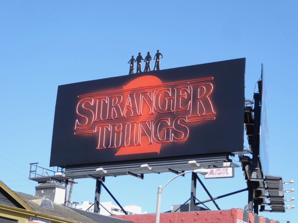 Stranger Things 2 neon sign cut-out billboard