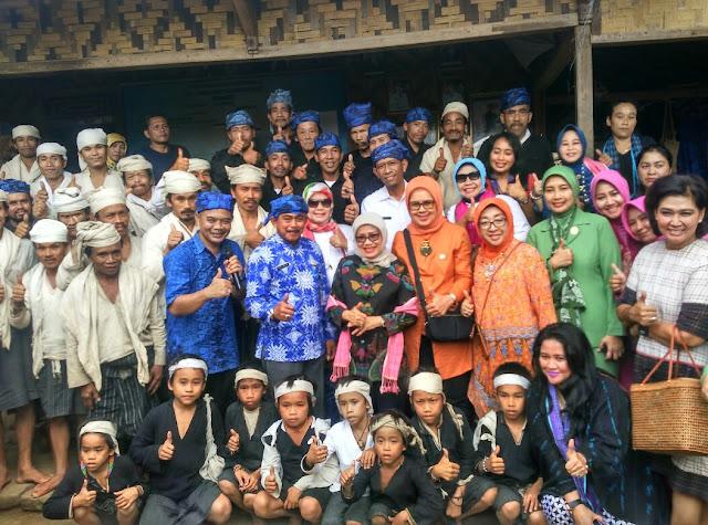 Mufidah Jusuf Kalla Kunjungi Suku Baduy, Tinjau Potensi Kerajinan di Lebak