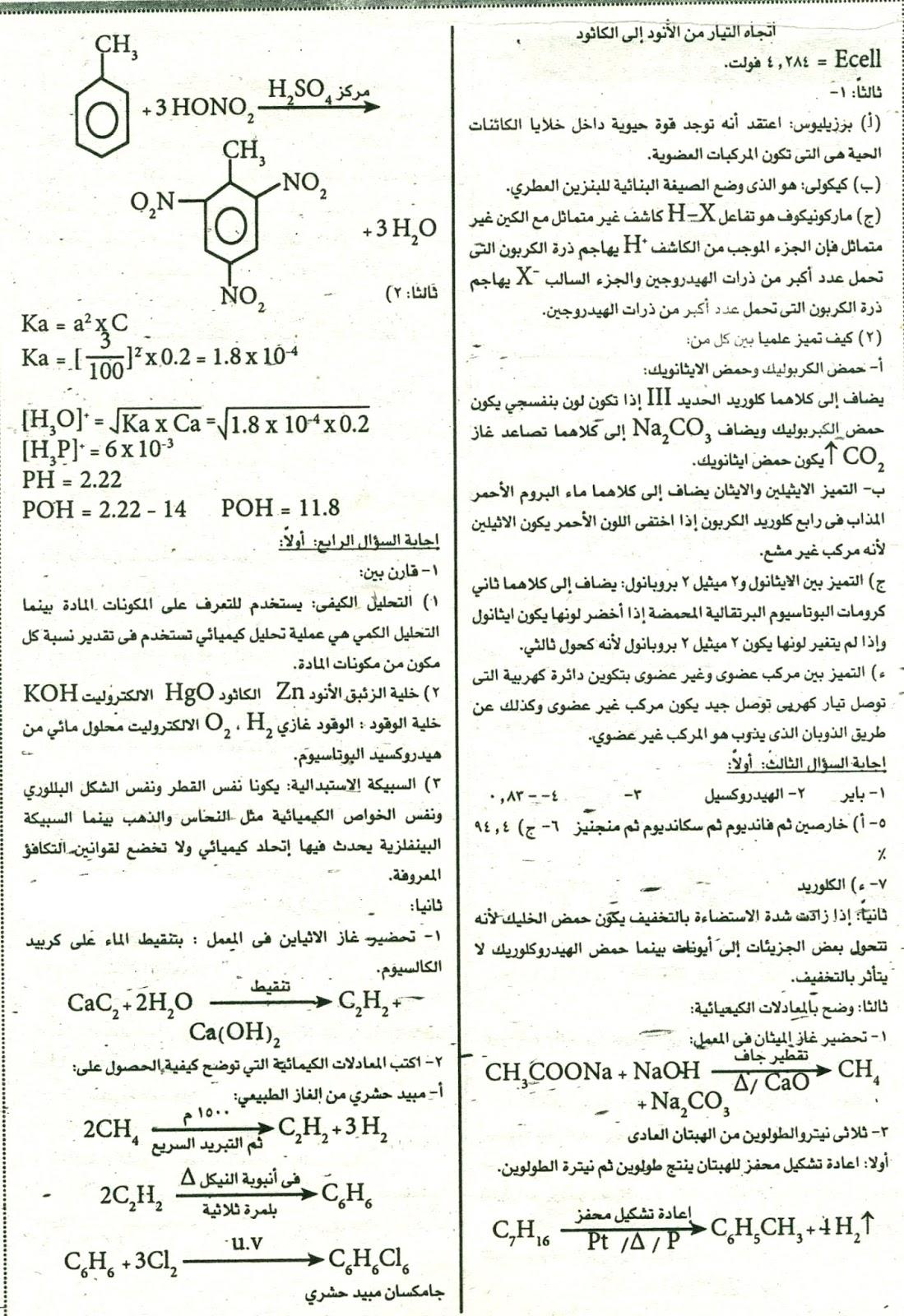 امتحان كيمياء الثانوية العامة بالسودان 2016 2_1461101965022