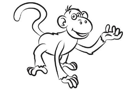 Desenhos Para Pintar E Imprimir Desenhos Para Colorir Macacos Bebes