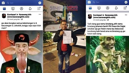 Penghina Presiden Jokowi yang Viral di Medsos Dilaporkan ke Polres Karawang