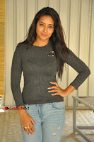 Actress Bhanu Tripathri Pos in Ripped Jeans at Iddari Madhya 18 Movie Pressmeet  0059.JPG