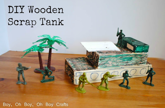 Handmade Gifts For Boys: Wooden Scrap Tank