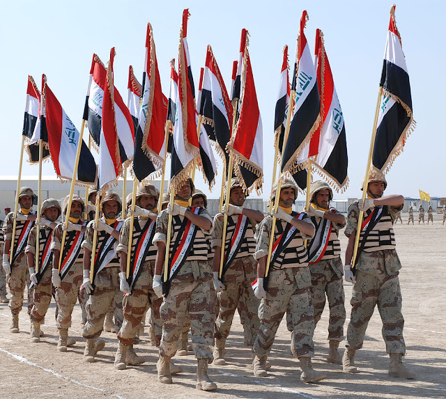 Soldiers from the 3rd Brigade of the 14th Iraqi Army Division graduate from basic training in Besmaya 2008. Situation Normal, and other stories of The Better Defense. marchmatron.com