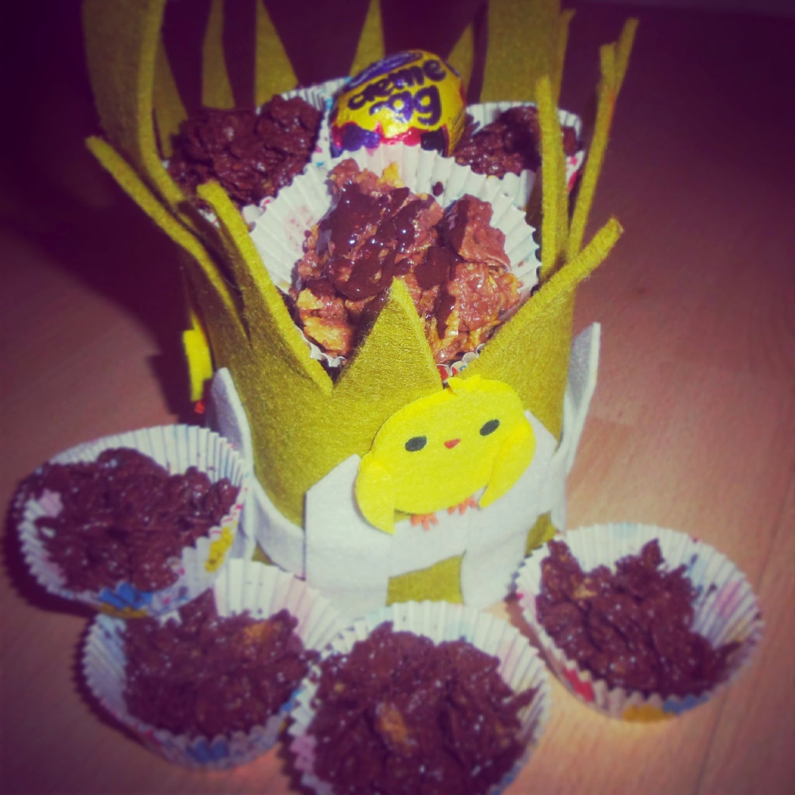 gooey chewy crispy cakes easter birthday easy
