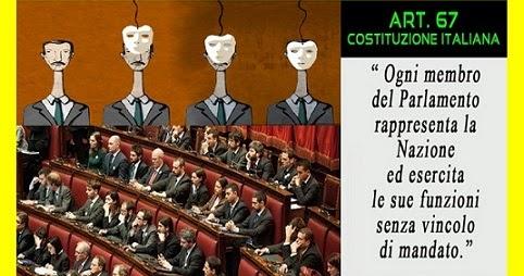Amicomario la nostra costituzione e la libert di mandato for Quanti deputati e senatori