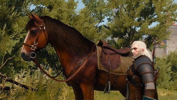 Sardinilla y Geralt en The Witcher 3