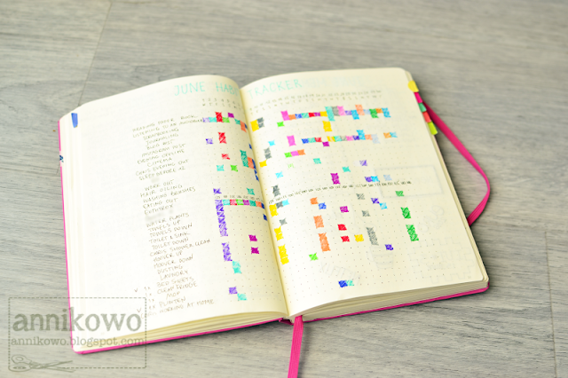 bullet journal habit tracker Annikowo