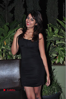 Actress Kavya Kumar Stills in Black Short Dress at F Club pre soft Launch  0029.JPG