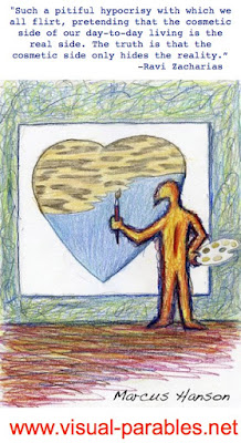 a person painting over his blue heart