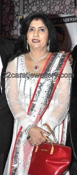 reena paswan in diamond ruby sets jewellery designs