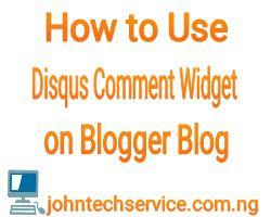 Disqus comment on blogger blog