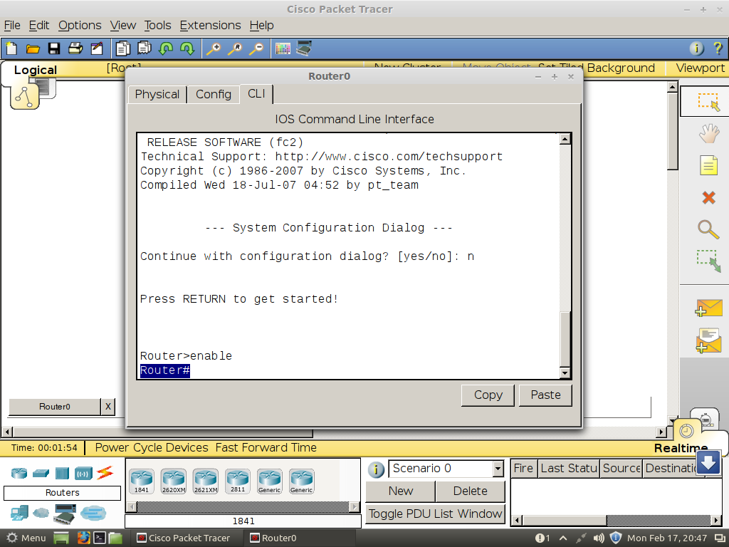 Router Configuration Using Cisco Packettracer Sandip