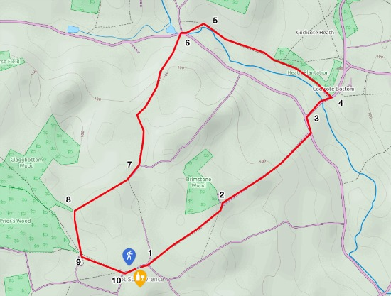 Map for Walk 55: Ayot North East Loop