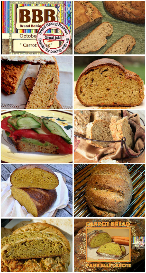 Revisiting Carrot Bread for a Bread Baking Buddies Roundup - October '13 | www.girlichef.com