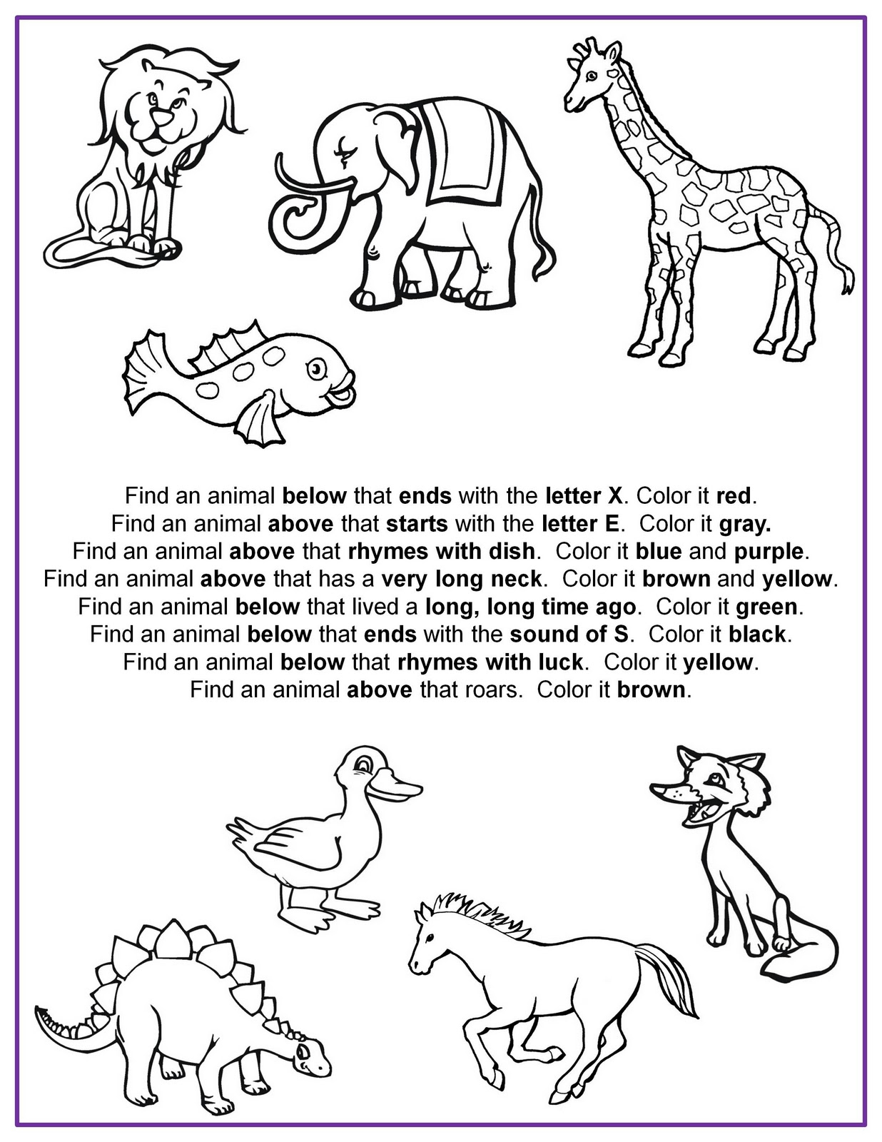 Following Directions Worksheet Kindergarten