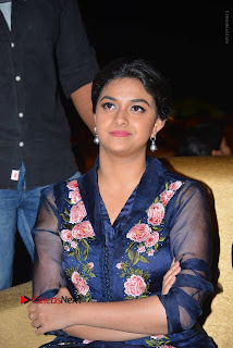 Actress Keerthi Suresh Stills in Blue Long Dress at Nenu Local Audio Launch  0016.JPG