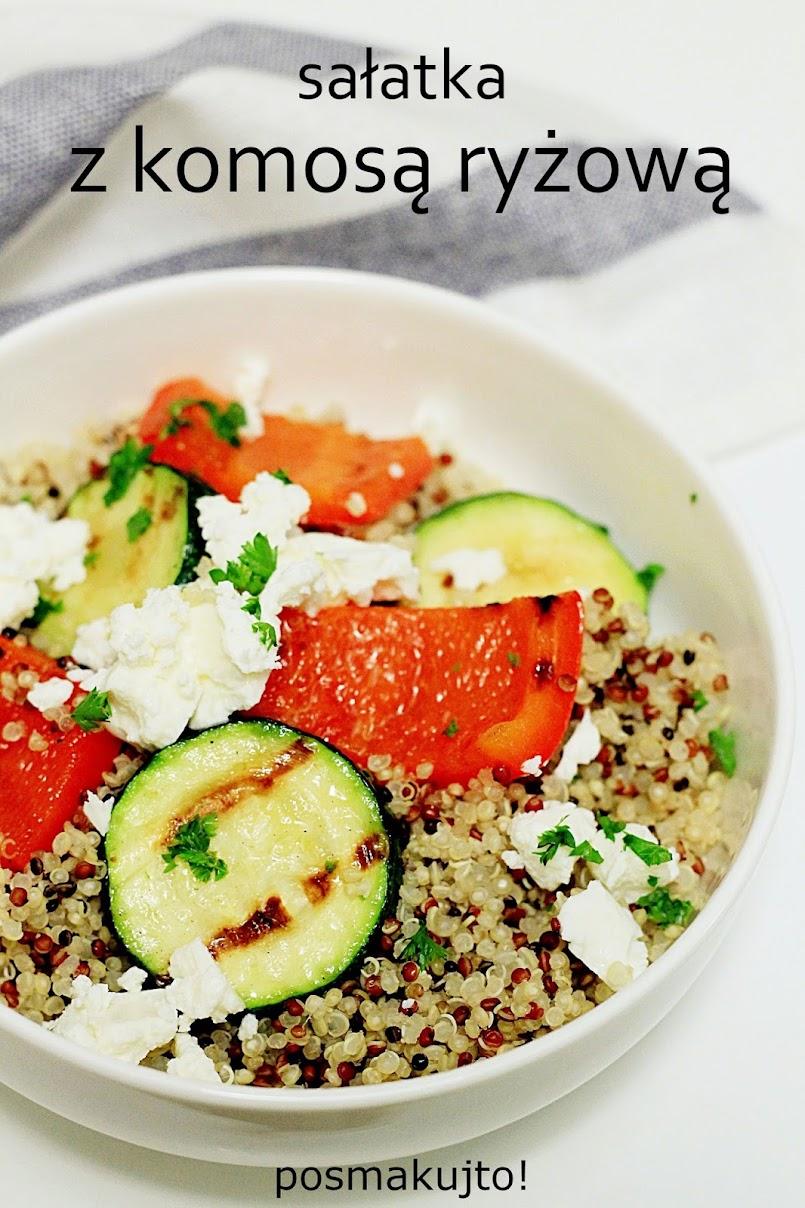 Sałatka z komosą ryżową i grillowanymi warzywami