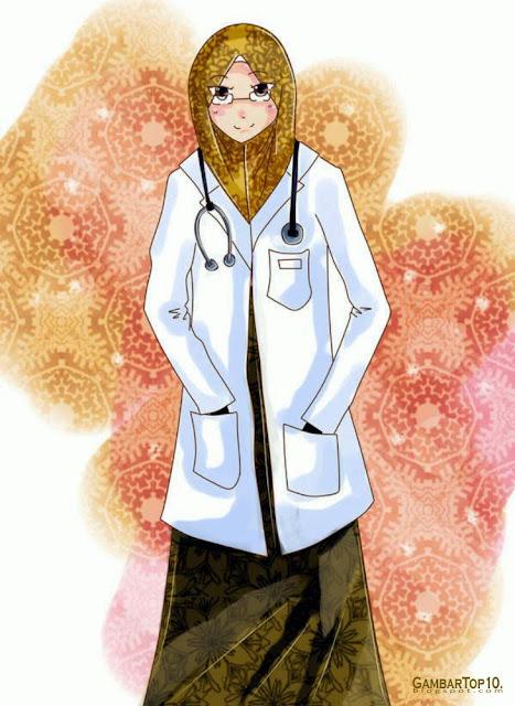 Dokter Muslimah Kartun : dokter, muslimah, kartun, Gambar, Kartun, Dokter, Muslimah, Koleksi