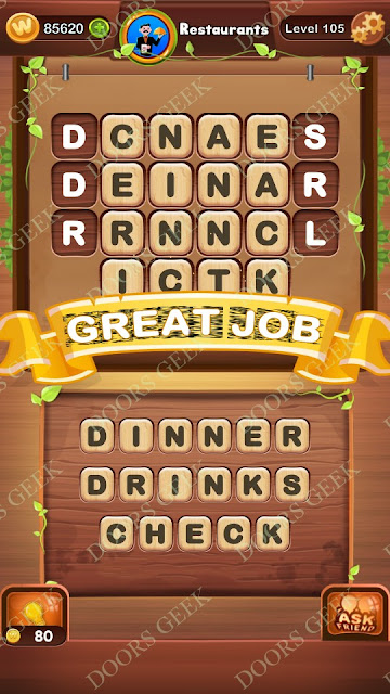 Word Bright Level 105 Answers, Cheats, Solutions, Walkthrough for android, iphone, ipad and ipod