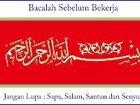 Desain Basmallah Sapa, Salam, Santun dan Senyum