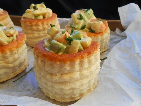 Canap s de langostinos mi mundo pinkcake for Canapes faciles y baratos