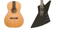 акустическая гитара и электрогитара