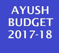 AYUSH Budget 2017-18