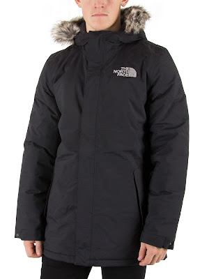 North Face Black Zaneck Fur Collar Jacket