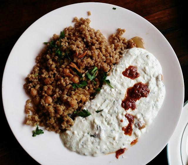 Moroccan Soup Bar, vegetarian, lentil and yoghurt