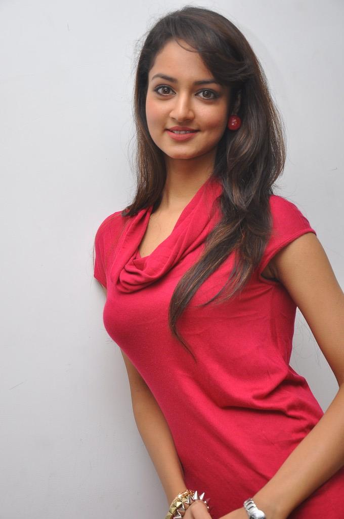smoky beauty Shanvi in red hot dress at adda success meet