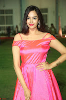 Actress Pujita Ponnada in beautiful red dress at Darshakudu music launch ~ Celebrities Galleries 012.JPG