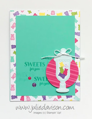 Stampin' Up! How Sweet It Is Jar Card for #GDP178 ~ 2019 Occasions Catalog ~ www.juliedavison.com