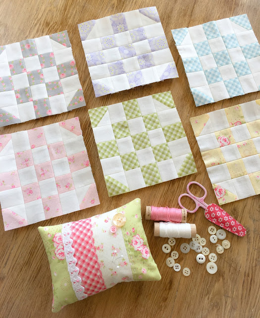 June Round the Corner blocks: Patchwork Quilt Along with Fat Quarter Shop