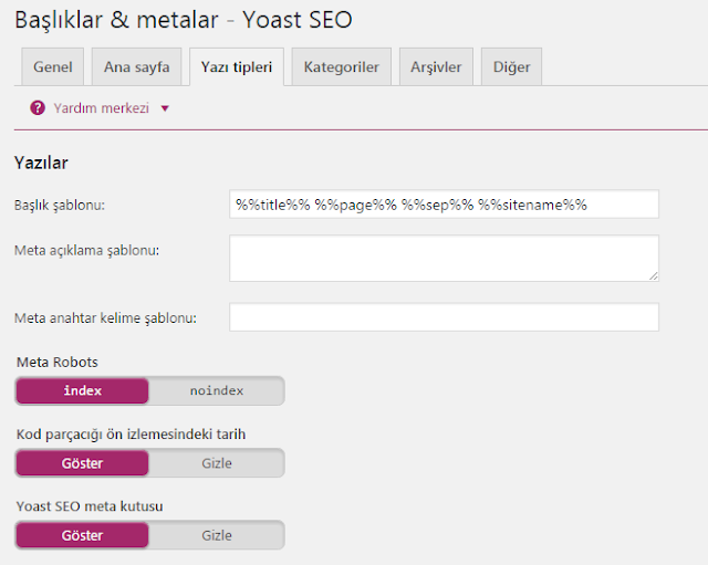 Yoast Seo WordPress Ayaları 8