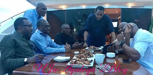 Photos: Dangote celebrates Sallah on yacht with Otedola, Tunde Ayeni, Donald Duke & other billionaire friends