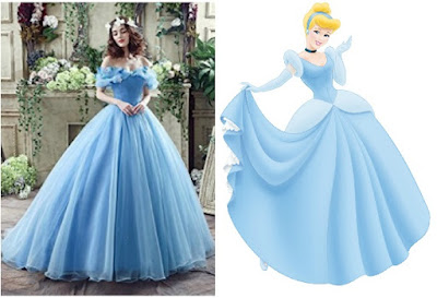 Disney Inspired prom dresses to wear princess cinderella blue ball gown