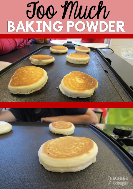 STEM Challenge: What happens when you use too much baking powder in your pancake recipe?