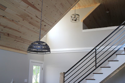 Kitchen remodel with vaulted ceilings, finished with tongue and groove pine