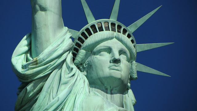 statue of liberty close up of face
